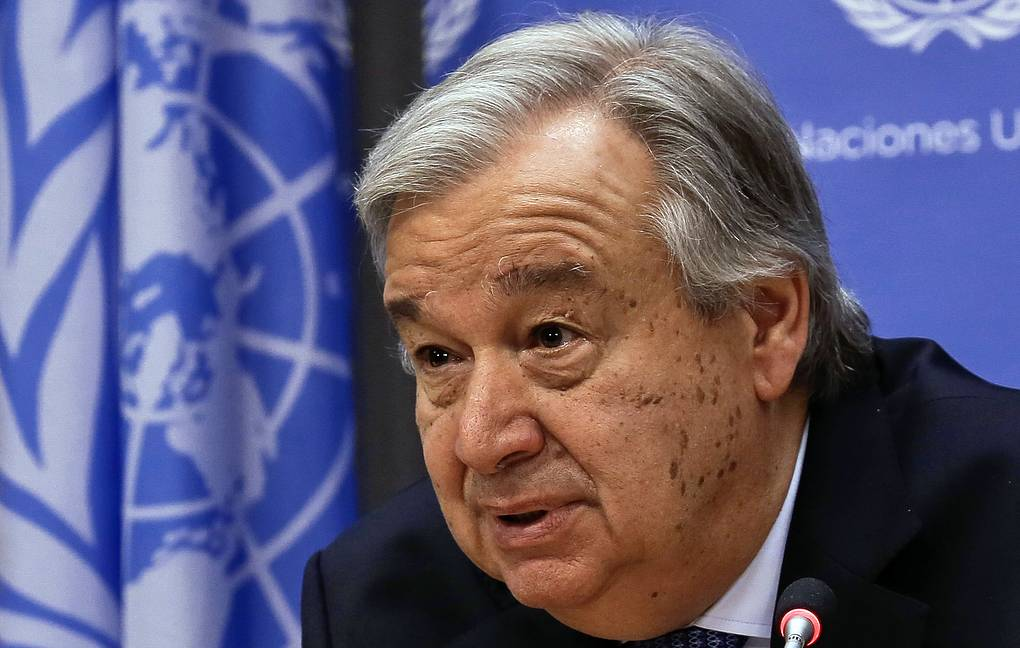 UN Secretary-General Antonio Guterres AP Photo/Bebeto Matthews
