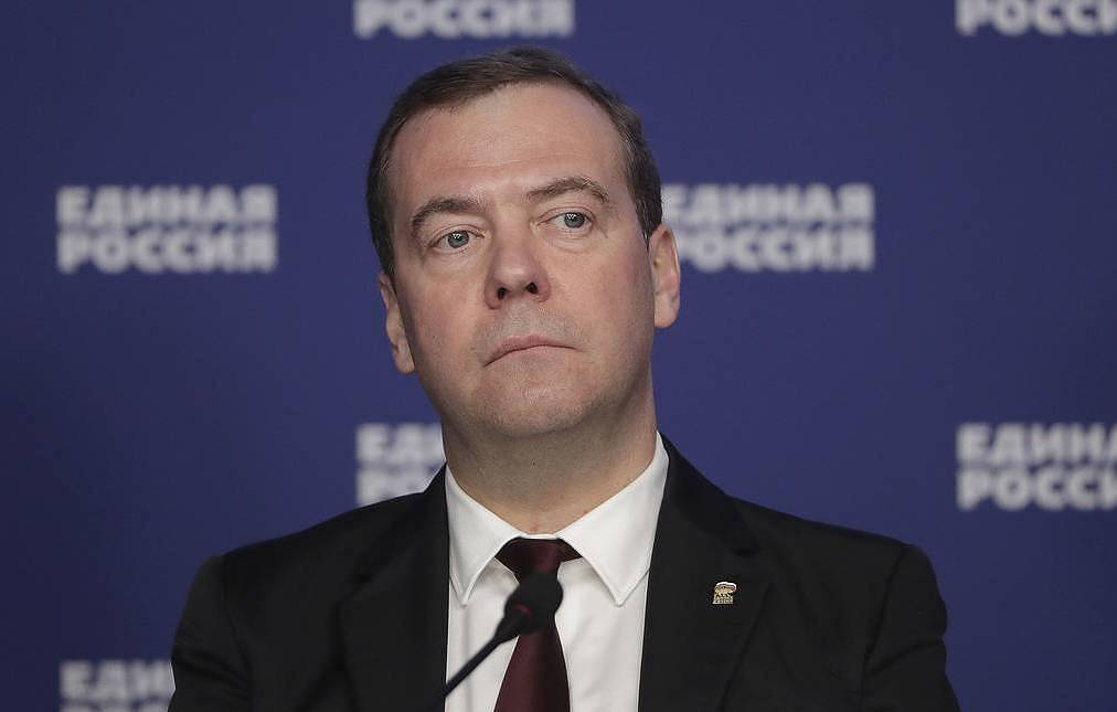 Russia's Security Council Deputy Head Dmitry Medvedev Mikhail Mettsel/TASS