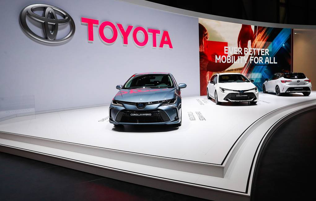Toyota Corolla vehicles on display at the 89th Geneva International Motor Show Sergei Fadeichev/TASS