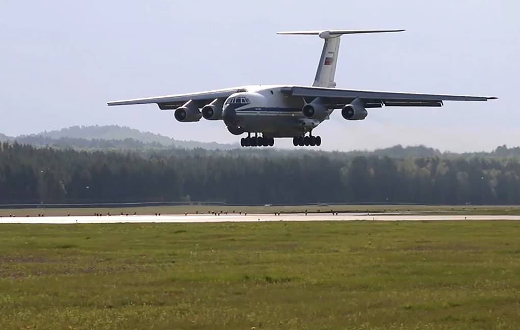 Il-76 military transport plane Russian Defense Ministry Press Office/TASS