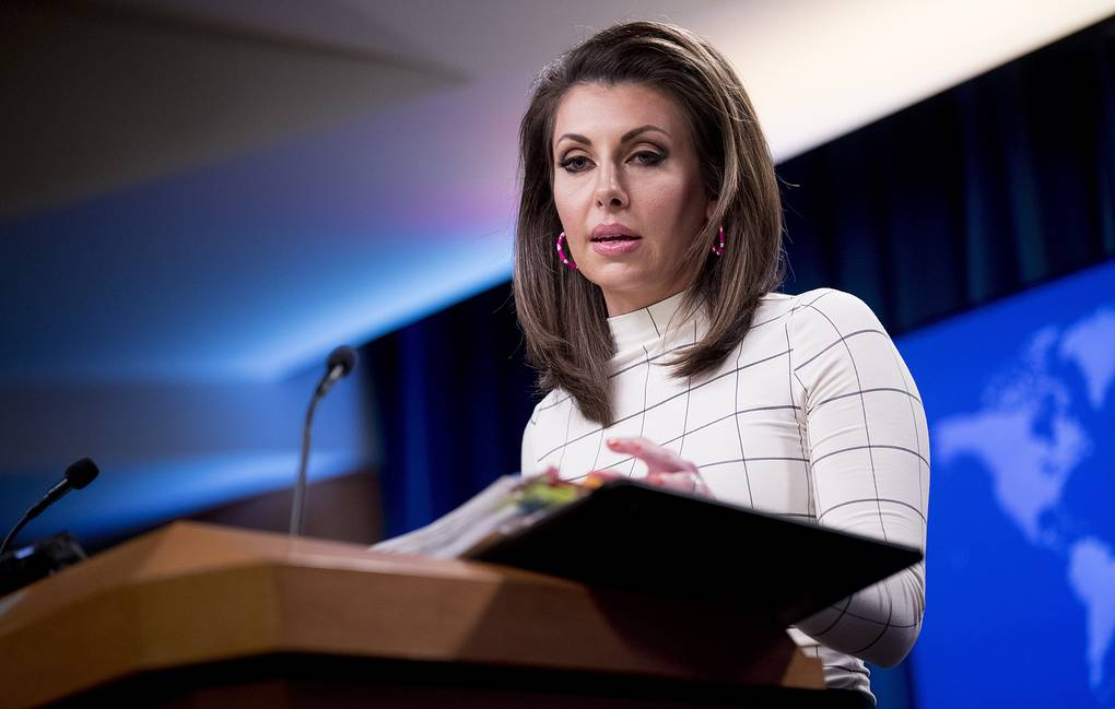 Spokesperson for the US State Department Morgan Ortagus AP Photo/Andrew Harnik
