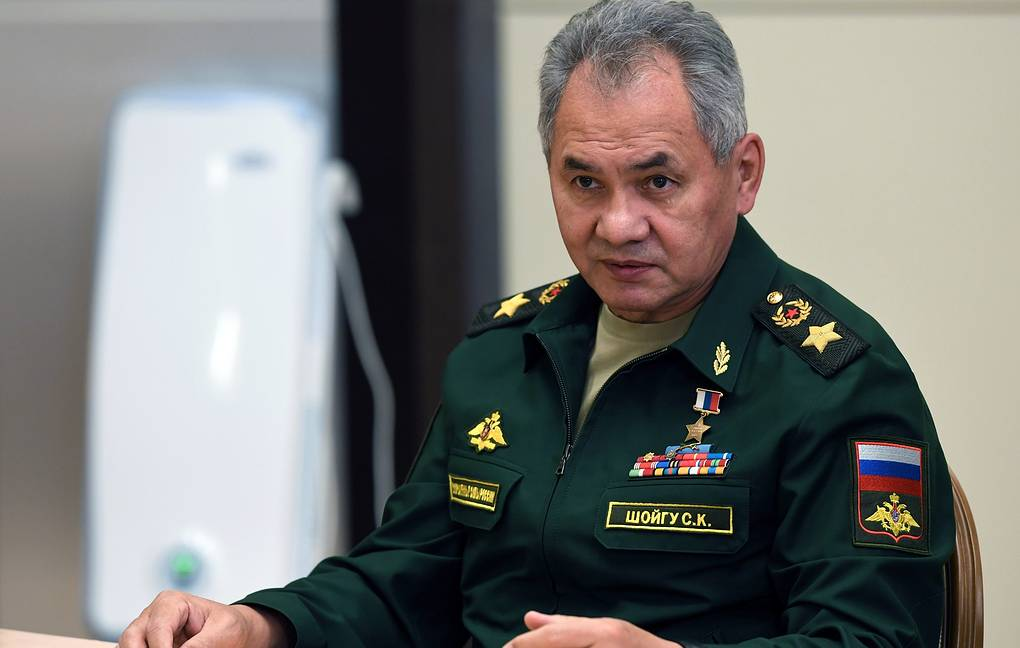 Russian Defense Minister Sergei Shoigu  Alexei Nikolsky, Sputnik, Kremlin Pool Photo via AP
