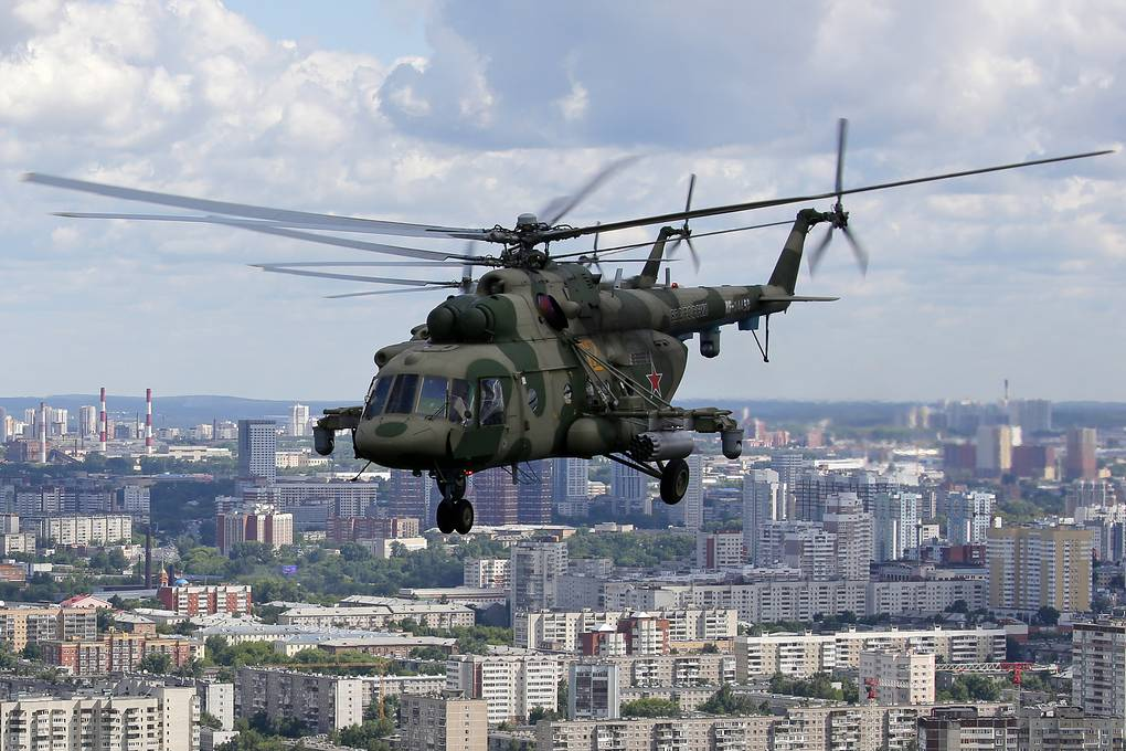 Military transport helicopter Mi-8MTV-5-1, on the basis of which the Mi-8MTV-5M was created Donat Sorokin / TASS