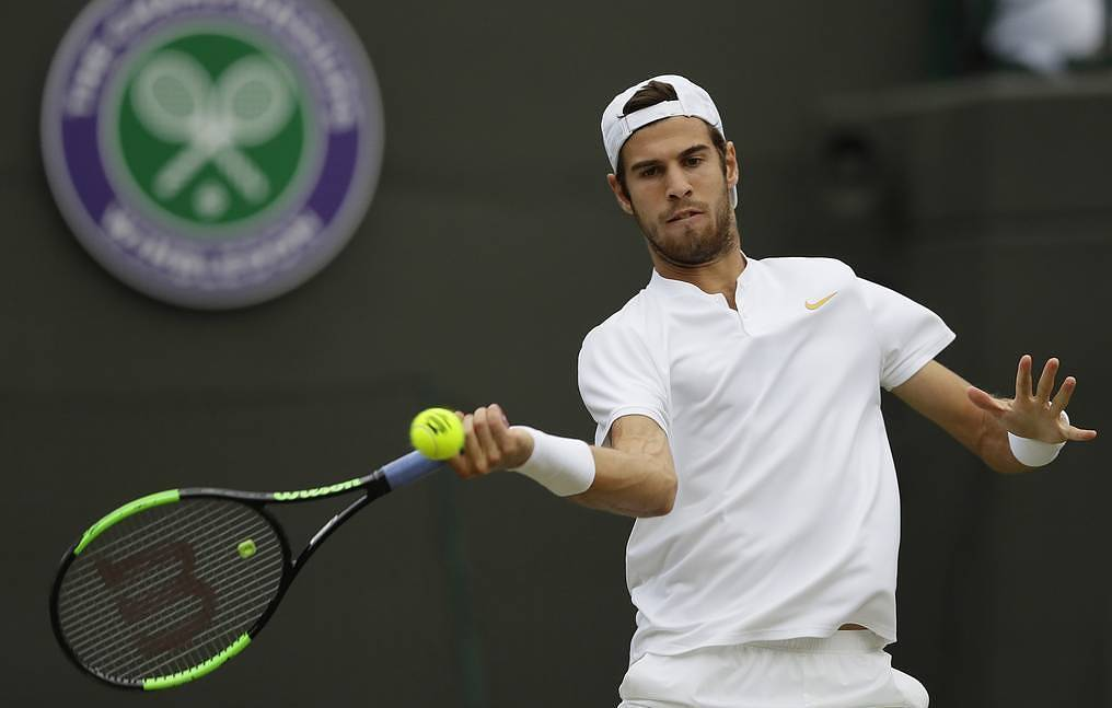 Russian tennis player Khachanov clears opening round of 2019 Wimbledon