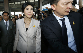 Acting Prime Minister of Thailand Yingluck Shinawatra