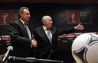 Russian Sports Minister Vitaly Mutko and FIFA President Joseph Blatter