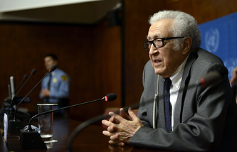 UN-Arab League Special Envoy for Syria Lakhdar Brahimi