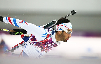French biathlete Martin Fourcade