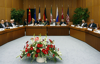 Conference room hosting the Vienna nuclear talks