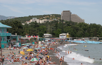 A beach in Crimea (archive)
