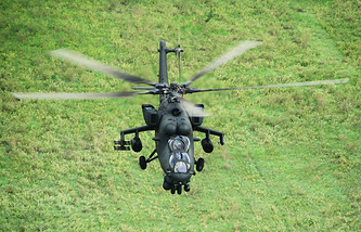 Mi-35M multipurpose military transport helicopter for combat missions (archive)