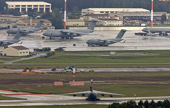 Ramstein air base where the NATO Allied Air Command is situated (archive)