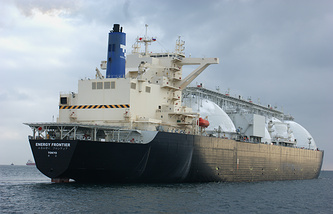 A tanker transportin liquified gas (archive)
