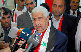 Syrian Foreign Minister Wallid Muallem