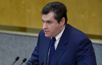Head of the State Duma committee on CIS affairs, Eurasian integration and ties with compatriots Leonid Slutsky