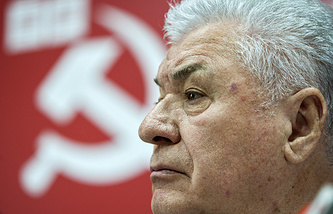 Moldova's former President and leader of the country's Party of Communists Vladimir Voronin
