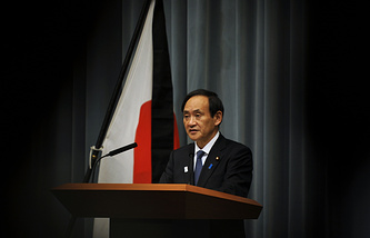 Japan's Chief Cabinet Secretary Yoshihide Suga