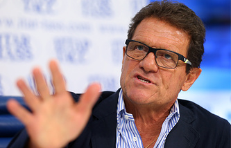 Fabio Capello at his press conference