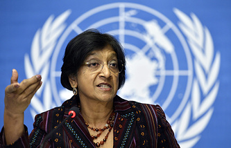 UN High Commissioner for Human Rights Navi Pillay