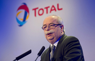 CEO of French multinational oil company Total, Christophe de Margerie (archive)