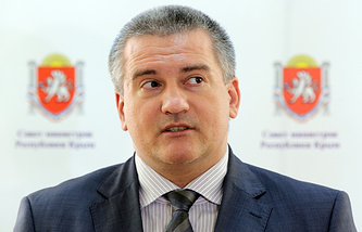 Head of the Republic of Crimea Sergey Aksyonov