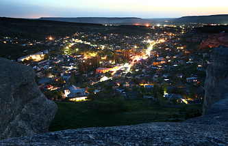 View of the town of Bakhchisarai, Crimea