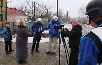 OSCE observers in eastern Ukraine