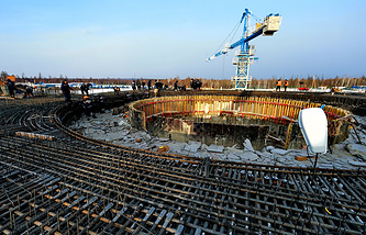 The construction site of Vostochny cosmodrome