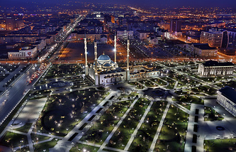 A view of Grozny, the capital of Chechnya