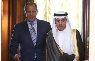 Foreign Ministers of Russia and Saudi Arabia, Sergey Lavrov and Adel al-Jubeir