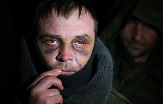 A militia war prisoner released by Kiev, February 2015