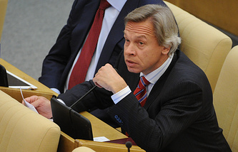 Alexey Pushkov, chairman of the State Duma lower house International Affairs Committee