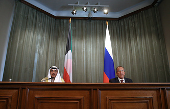Foreign Ministers of Kuwait and Russia, Sabah Al-Khalid Al-Sabah and Sergei Lavrov