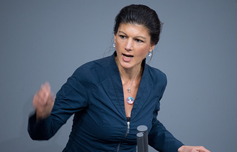 Faction leader of German Left Party faction Sahra Wagenknecht
