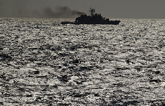 NATO warship maneuvers on the Black Sea