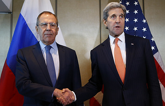 Sergey Lavrov and John Kerry