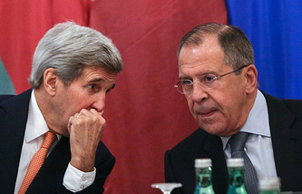 John Kerry (left), Sergey Lavrov