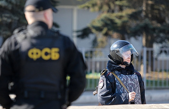 Russian security service operatives (archive)