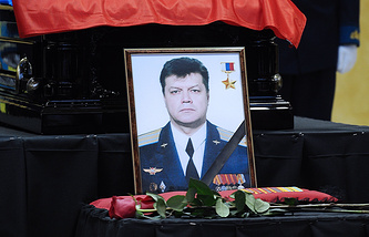 Portrait of Russian Air Force pilot Oleg Peshkov