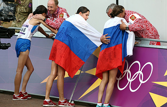 Russian athletes at the 2012 Summer Olympics