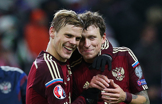 Alexander Kokorin and Pavel Mamaev