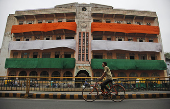 National flag in Ahmadabad, India