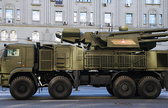 Pantsir-S surface-to-air missile and anti-aircraft artillery weapon system