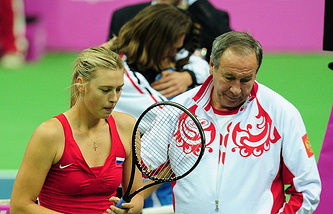 Maria Sharapova and Shamil Tarpishchev