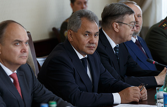 Sergei Shoigu (center)