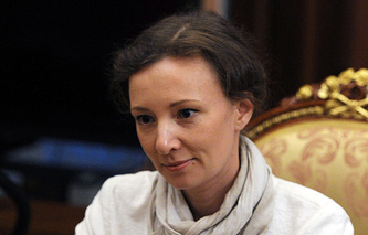 Russia's children's rights ombudsman Anna Kuznetsova