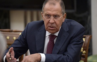Russia's minister of foreign affairs Sergei Lavrov