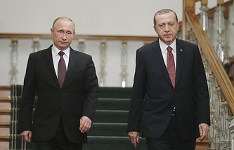 Russian President Vladimir Putin and Turkish President Recep Tayyip Erdogan