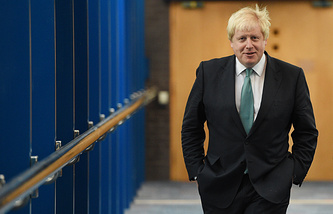 The UK's Foreign Secretary Boris Johnson