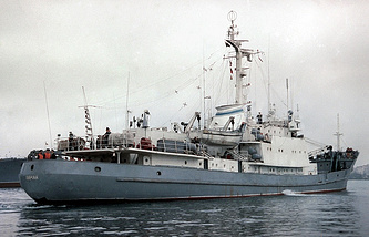 A Russian Black Sea Fleet's research ship Liman